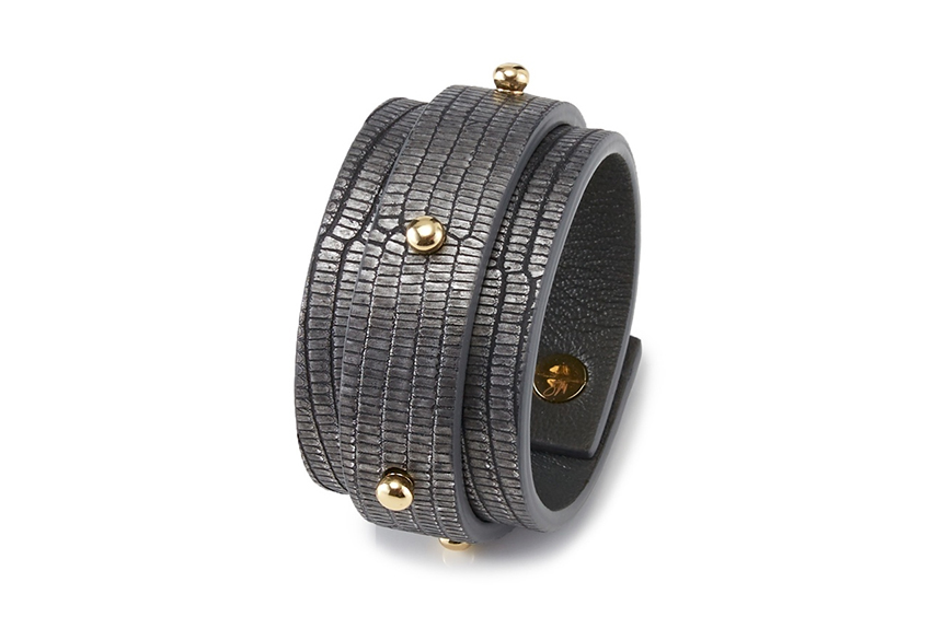 large studded double cuff by mitchel primrose