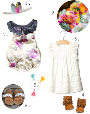 colorful boho little girl outfit inpiration