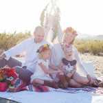 boho style family photo session | the love designed life