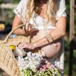 gathering garden bounty     the love designed life