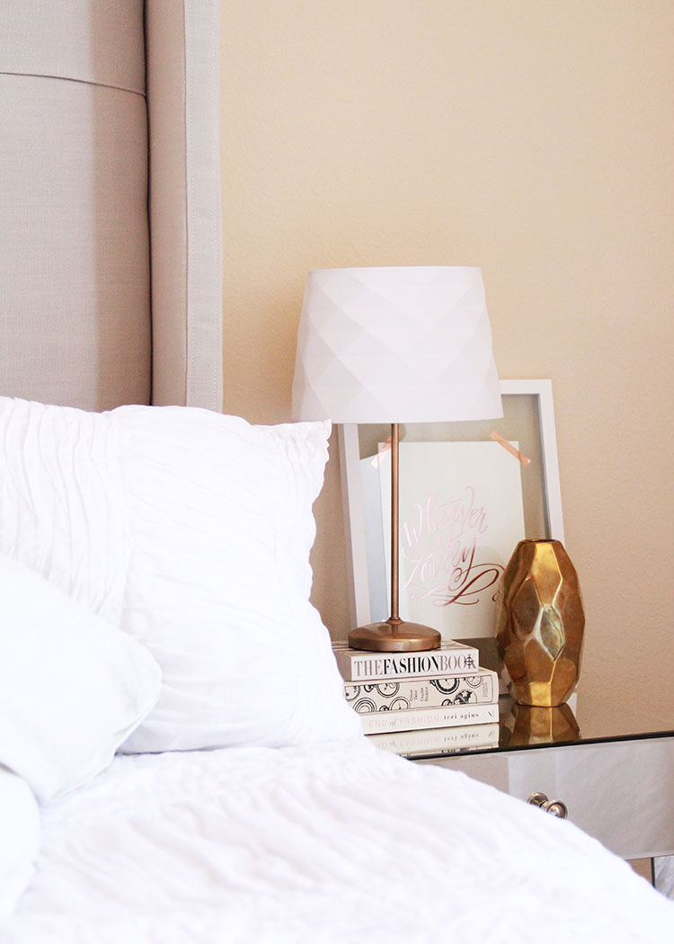 updated lamps and side table styling | the love designed life