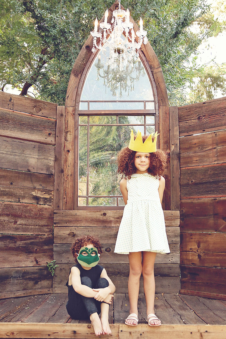 inside their make believe castle | opposite of far storybook series | photo: qianak photography | the love designed life