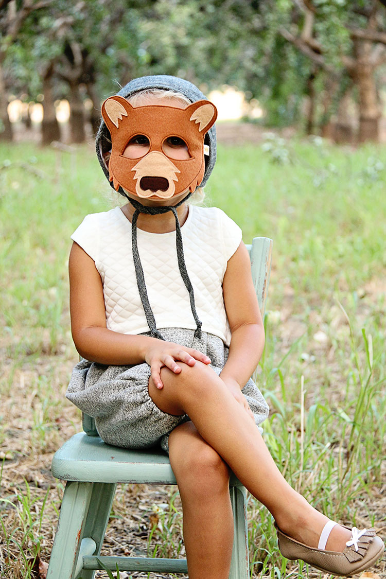 baby bear with opposite of far play mask | the love designed life