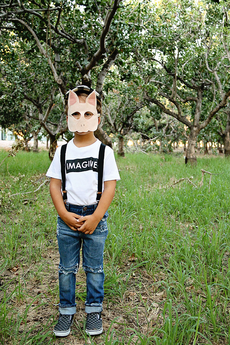 little piggy one with opposite of far play mask | the love designed life
