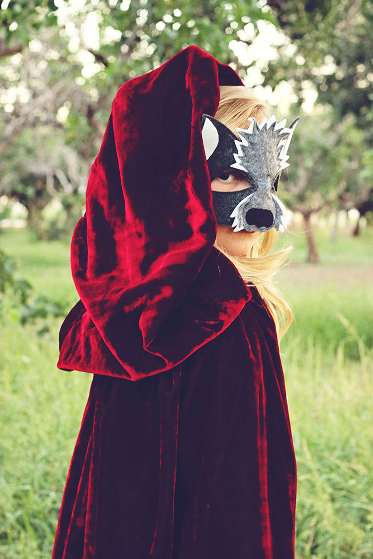 a wolf in red's clothing | opposite of far storybook series | QianaK Photography | the love designed life