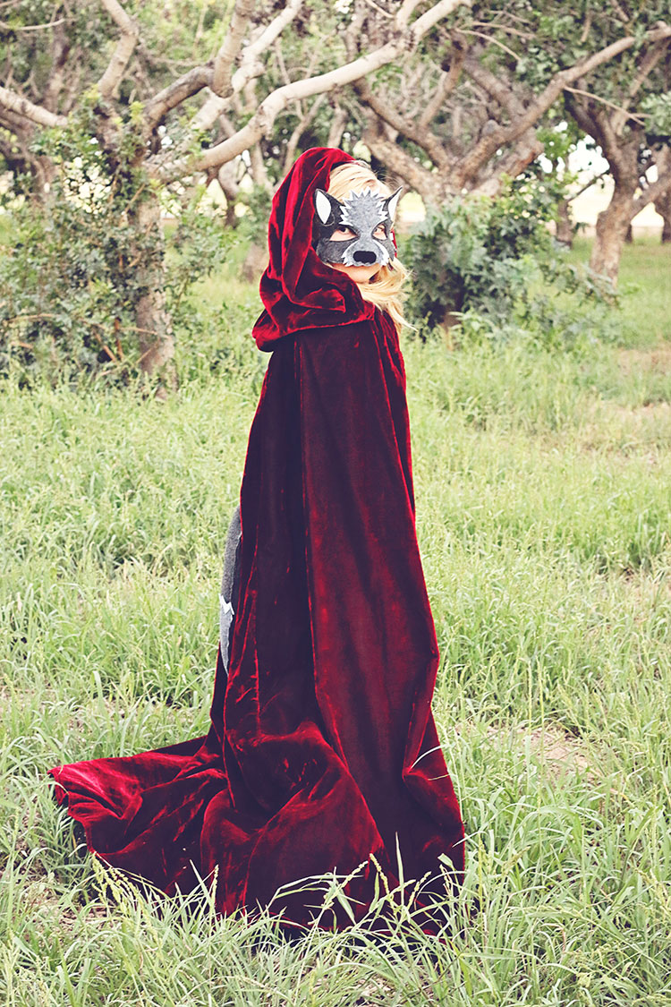 little red as the wolf | opposite of far storybook series | QianaK Photography | the love designed life