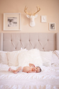 tiny baby, big bed | mother + child co. | dream photography studio for the love designed life
