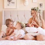 mama and her three babes | mother + child co. | dream photography studio for the love designed life