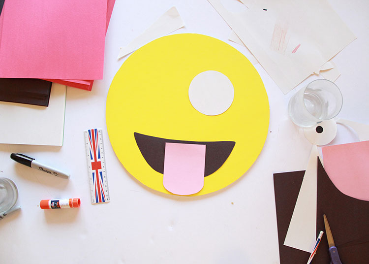 emoji diy halloween costume in progress   the love designed life