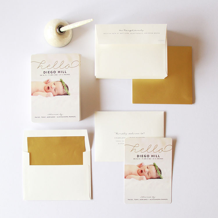 birth announcement suite by minted | the love designed life