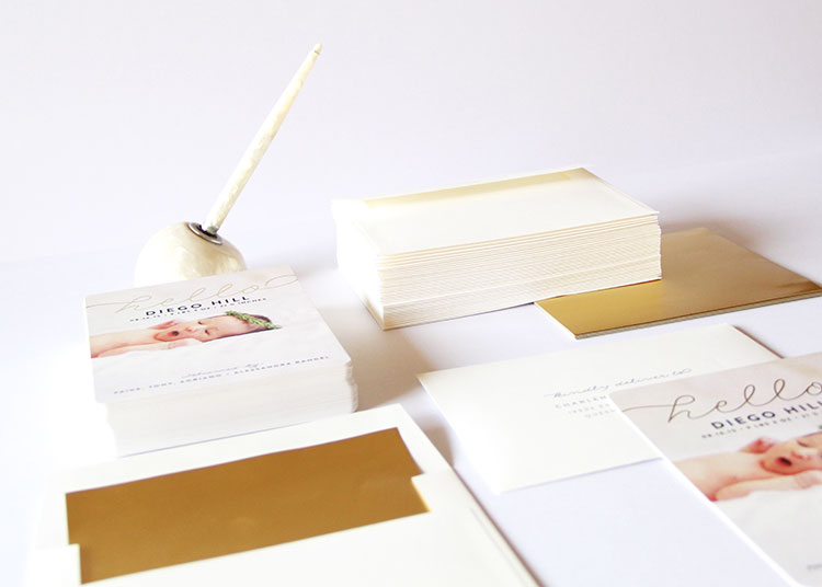 pretty birth announcements from minted | the love designed life