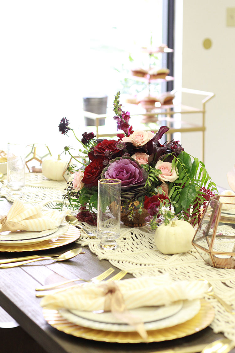 a boho modern thanksgiving tablescape | the love designed life