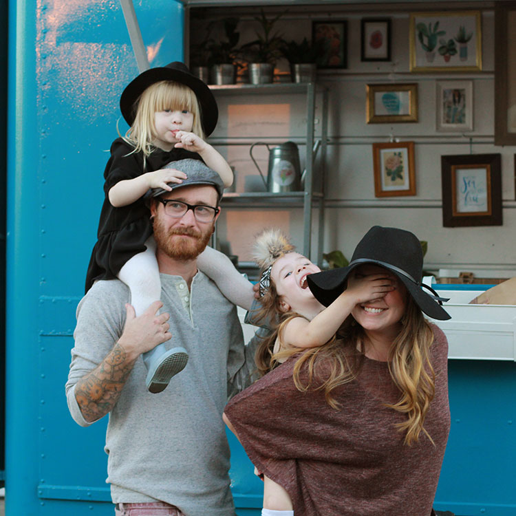 fun family photos with a vintage truck | the love designed life