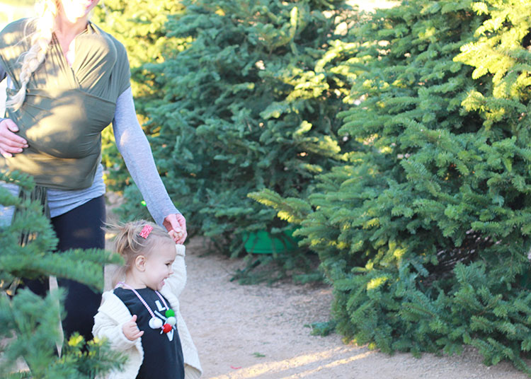 christmas tree hunting with solly baby wrap | twelve days of christmas giveaways from the love designed life
