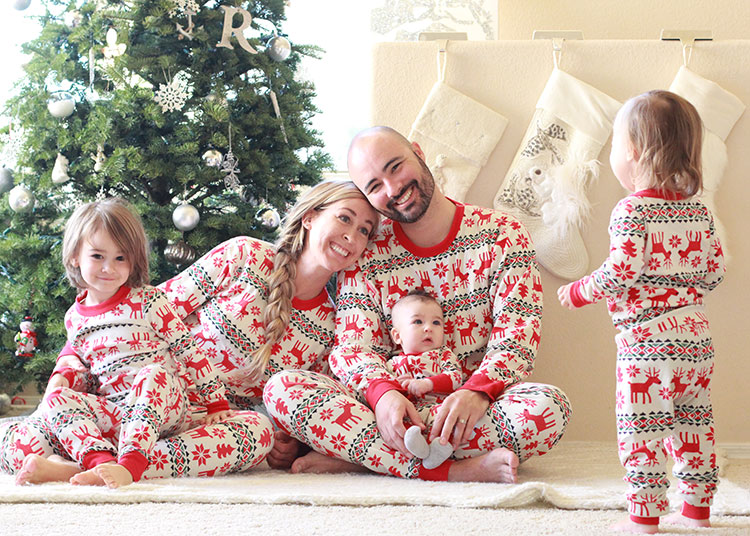 matching family christmas jammies for the win   the love designed life