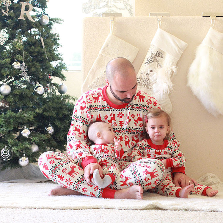 matching family christmas jammies for the win | the love designed life