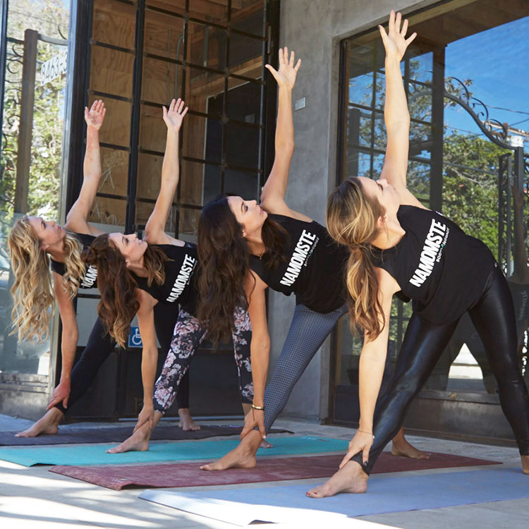 yoga with mom friends | the love designed life
