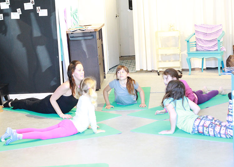 Mary Montague teaching girls pilates at Aviva in Santa Monica | the love designed life