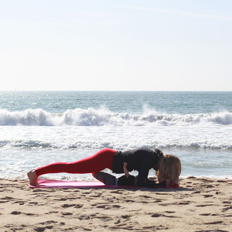 push ups | m and m pilates on the beach | the love designed life