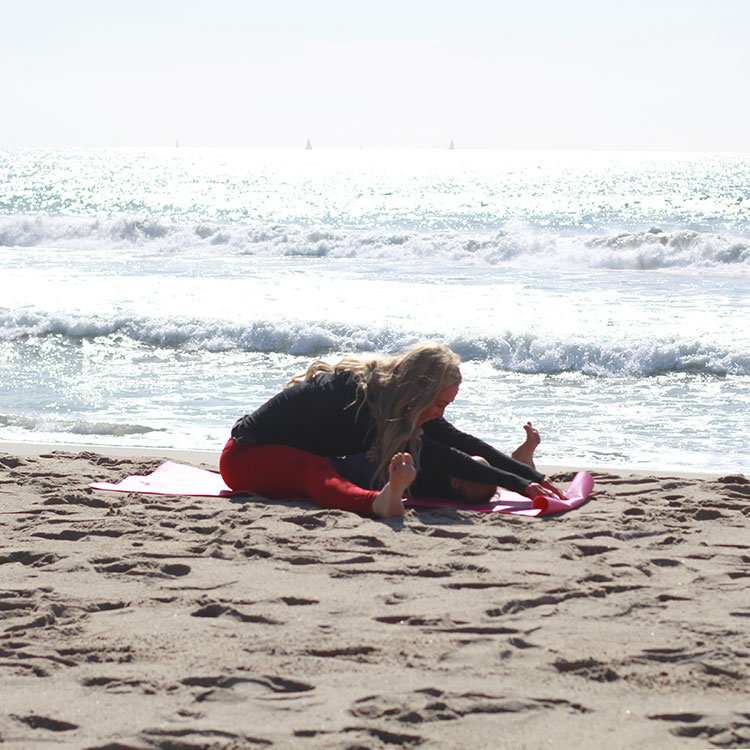 spine stretch forward | m and m pilates on the beach | the love designed life