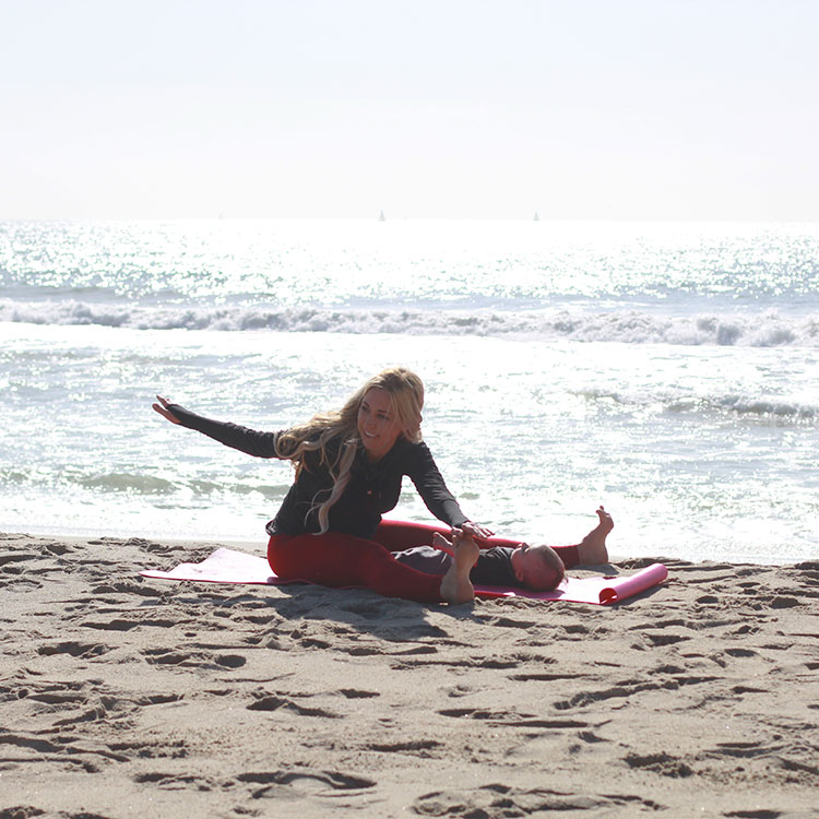 saw stretch | m and m pilates on the beach | the love designed life