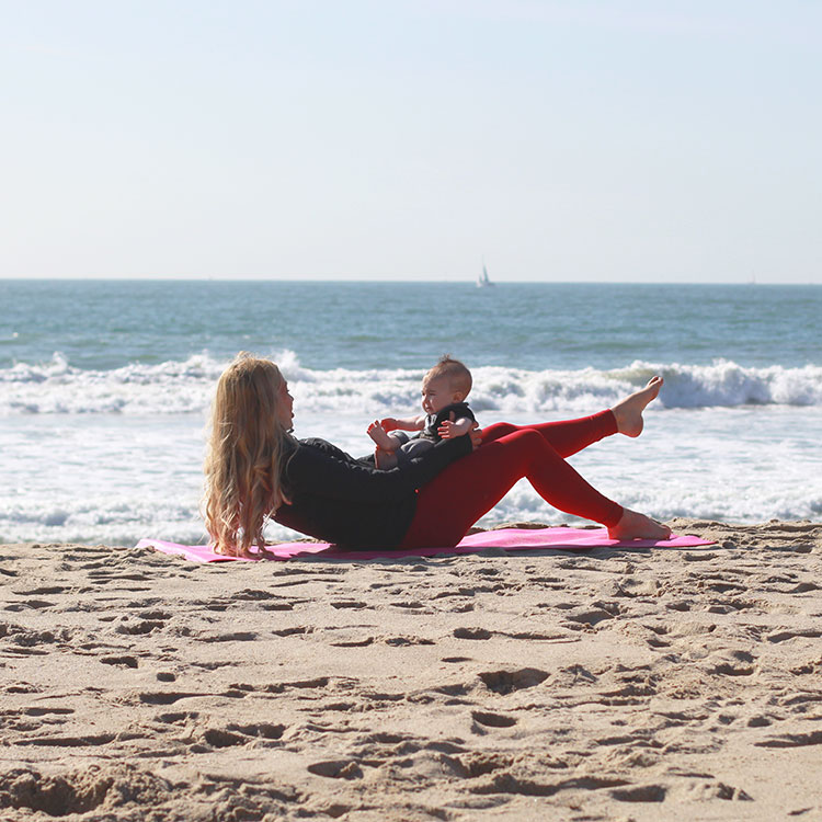 roll up with kisses | m and m pilates on the beach | the love designed life