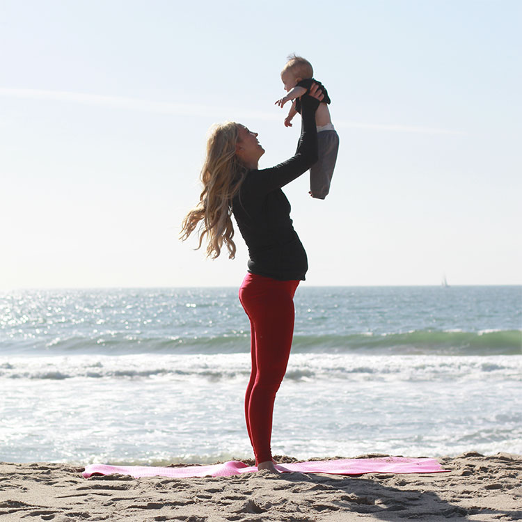 squats with baby | m and m pilates on the beach | the love designed life