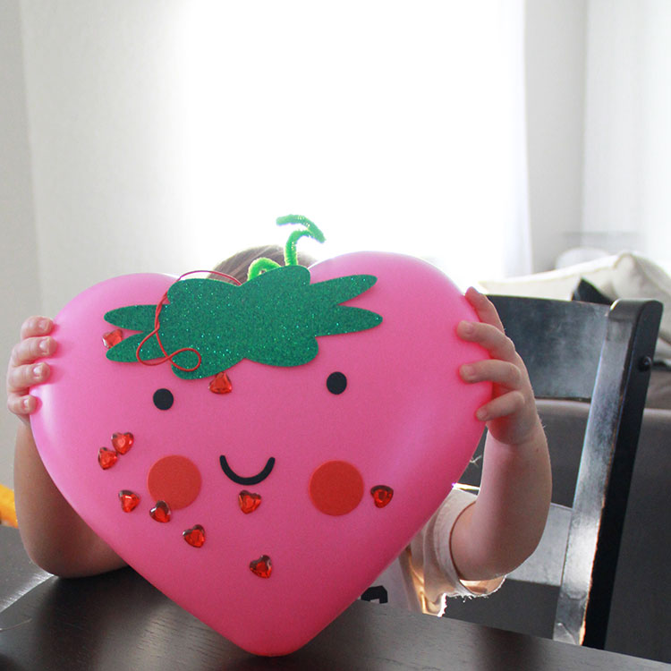 strawberry valentine heart craft from target | the love designed life