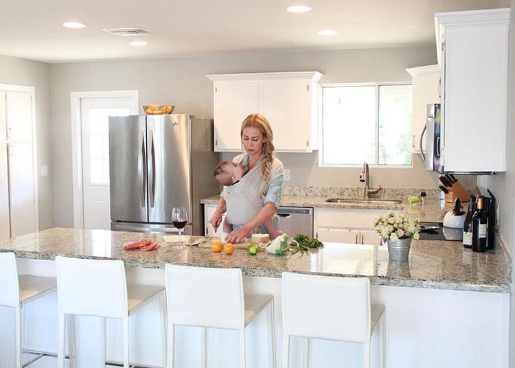cooking with baby in tow   the love designed life