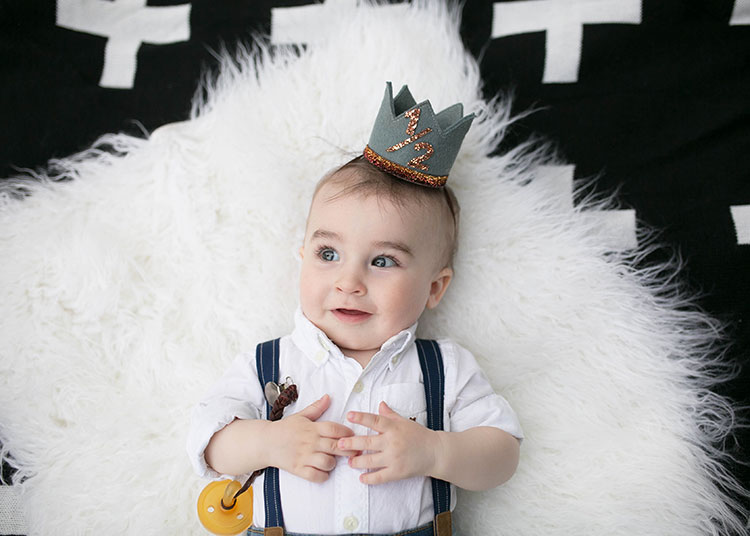 super cute half birthday crown | the love designed life