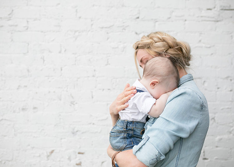 sweet baby snuggles for mama | the love designed life