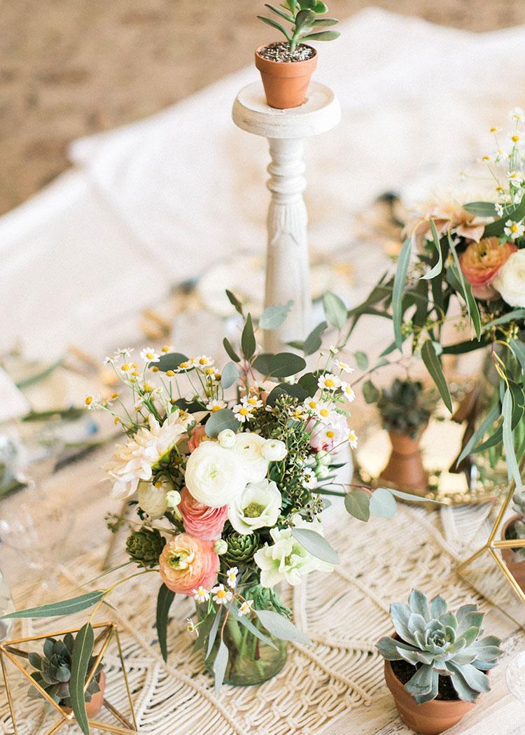 spring boho floral arrangements by the love designed life