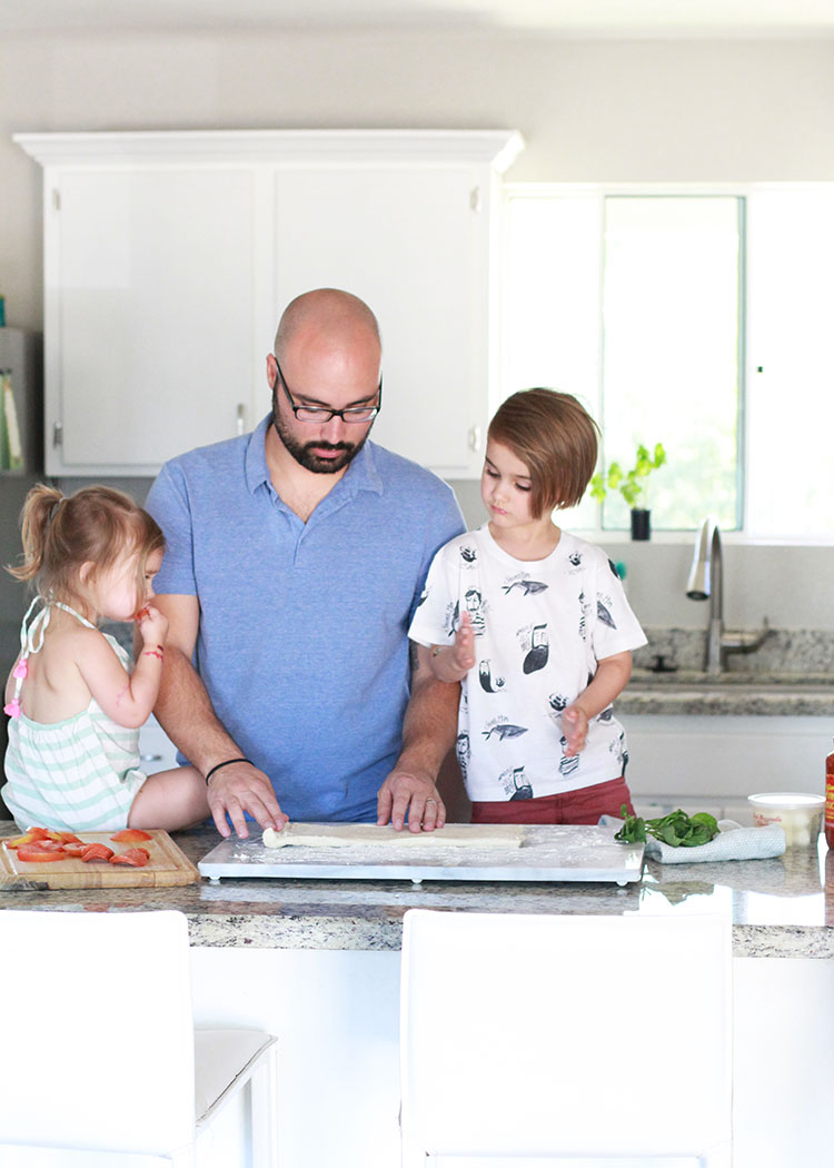 making pizza at home with kids is a great way to meet everyone's dietary needs and taste preferences1! | the love designed life