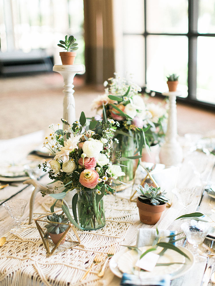 a boho festival inspired tablescape for the tables that bloom charity event | the love designed life