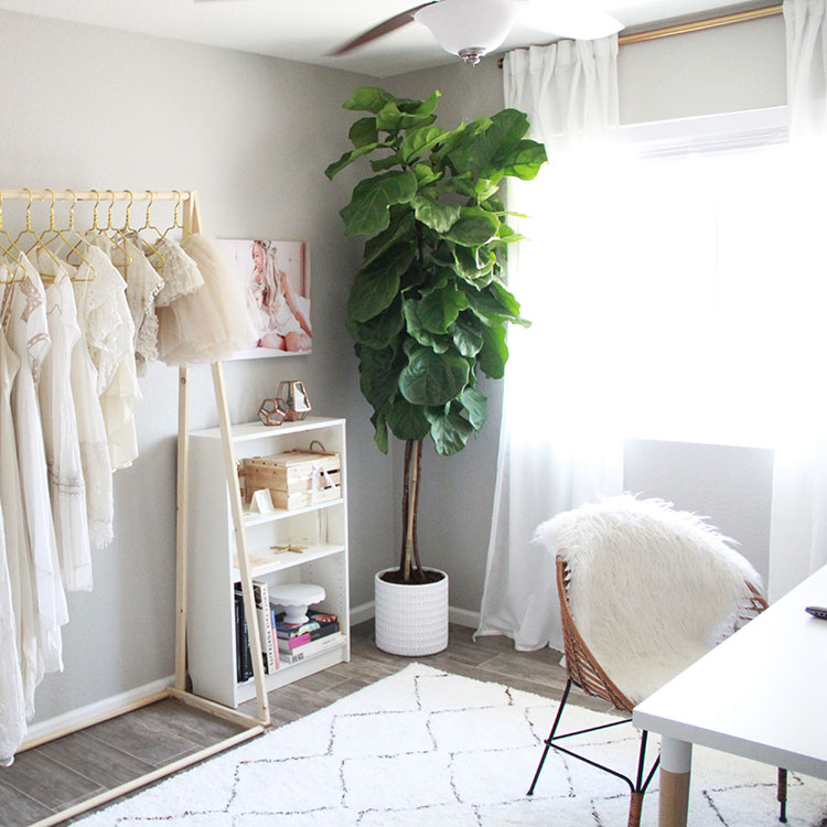 a feminine and fresh office | the love designed life