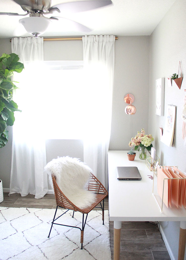 a feminine chic office space | the love designed life