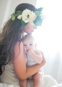 boho mama with mermaid hair and her babe for mother + child co. | the love designed life