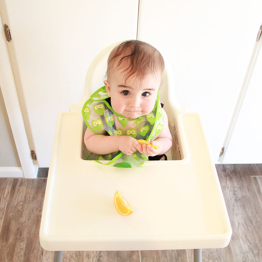 baby's first banana | six months | the love designed life