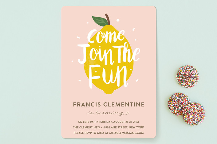 First Birthday Party Invites With Minted The Love Designed Life