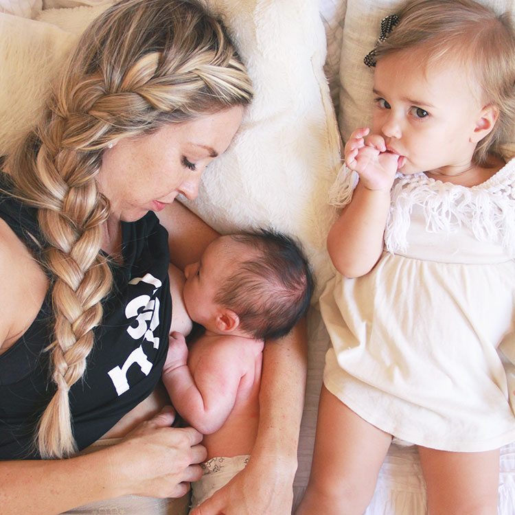 snuggles and breastfeeding with these two babes is the best | the love designed life