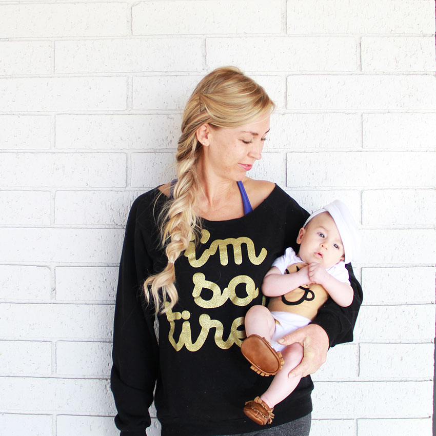 mommy + me on halloween // baby cup of coffee and so tired mommy | the love designed life