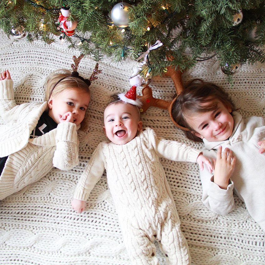 three little reindeer under the christmas tree | the love designed life