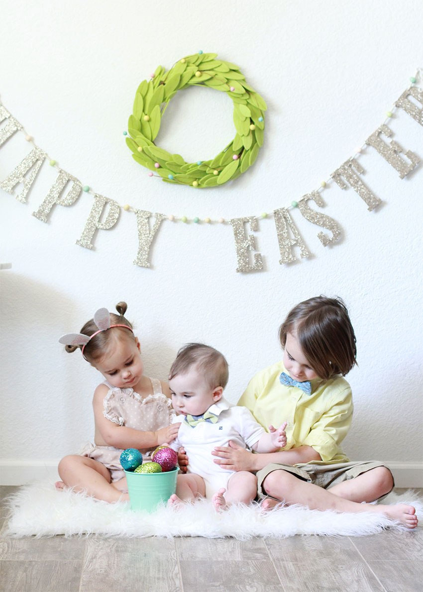 my three sweet bunnies dressed up for easter | the love designed life