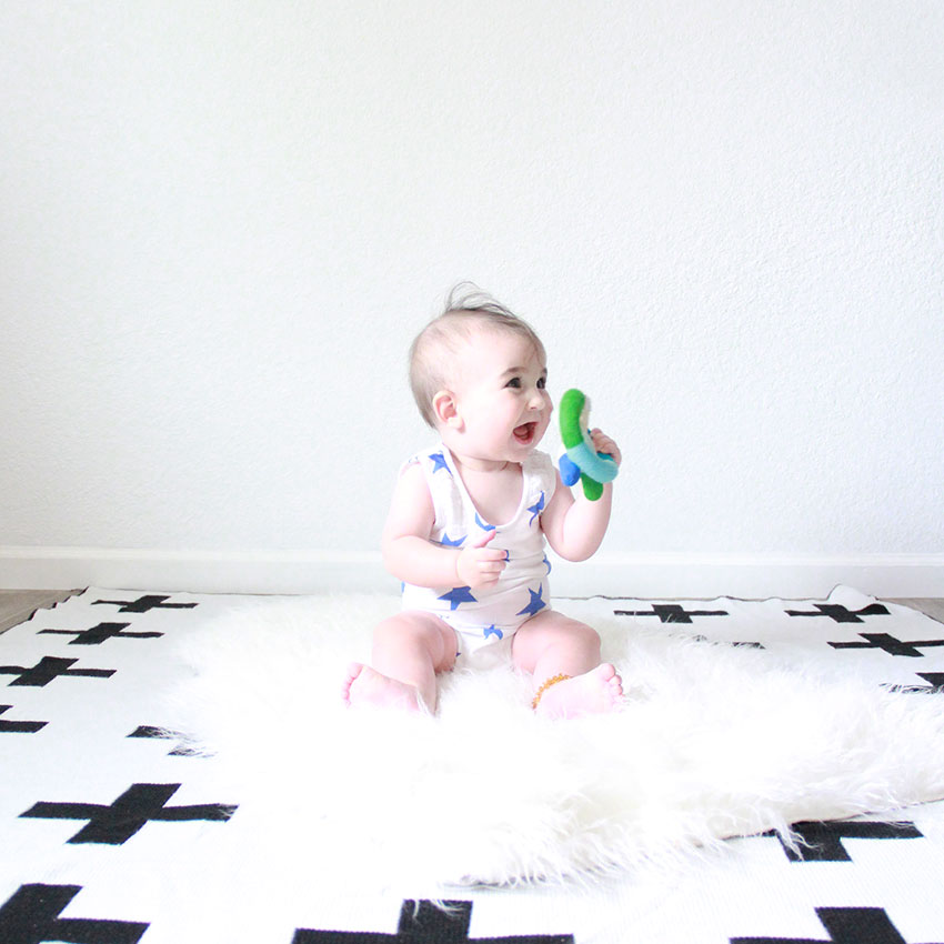 when my baby boy finally sat up! | the love designed life
