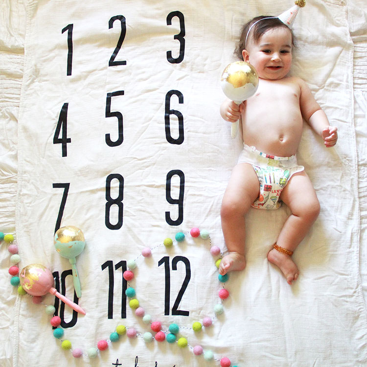 one year of milestones with our batz kids blanket | the love designed life