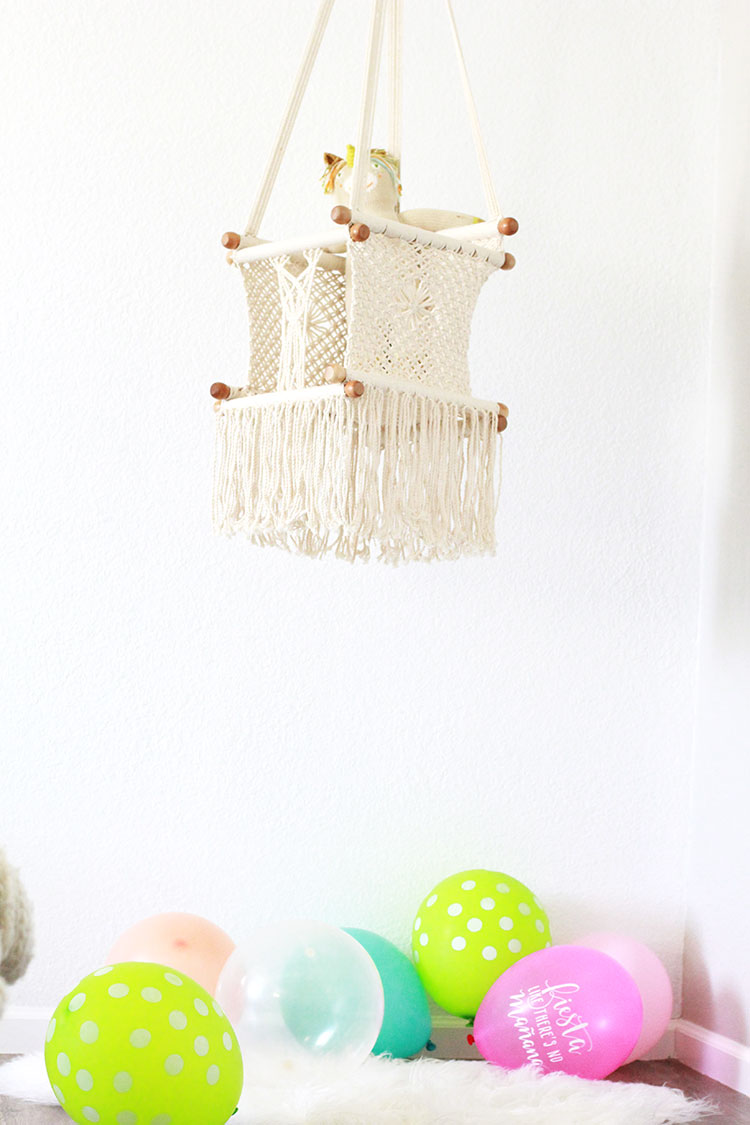 sweetest macrame baby swing | the love designed life