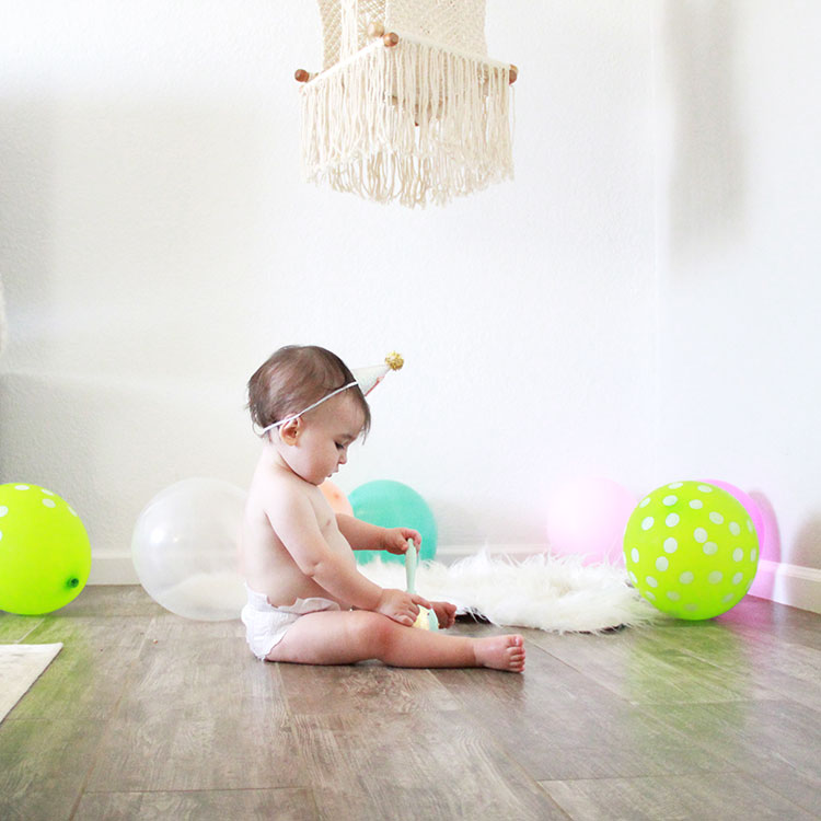 diego loving on his gold leaf maracas by a bubbly life | the love designed life