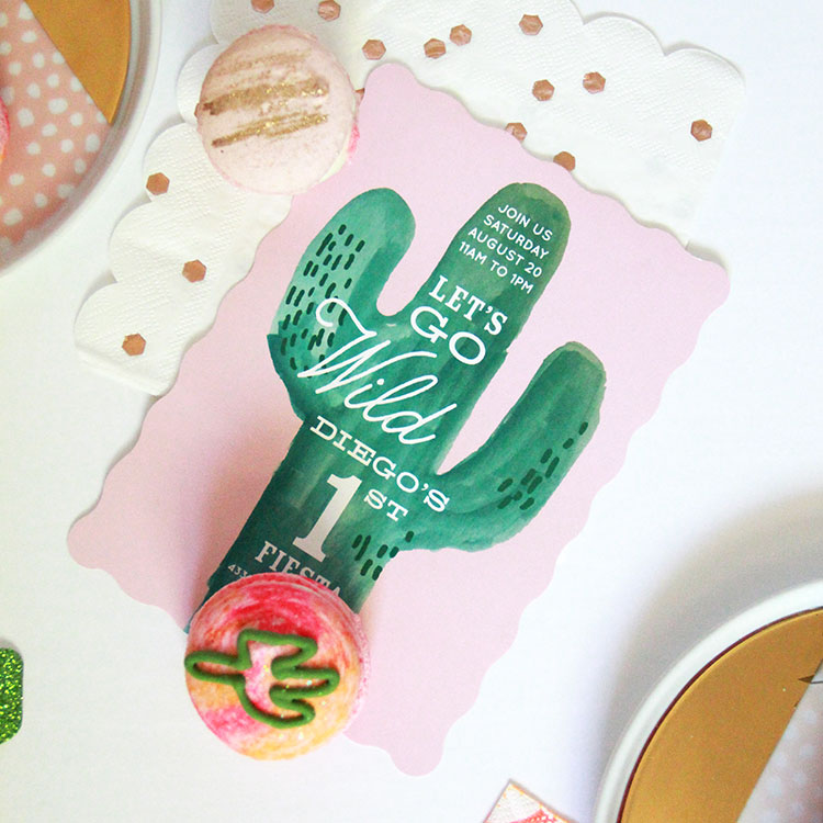cactus invites by minted for #diegosfirstfiesta | the love designed life