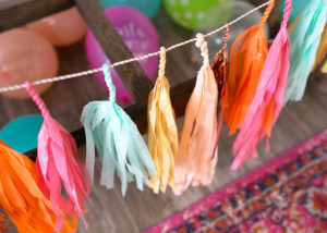 modern fiesta paper tassel garland by paperfox LA | margarita + sangria bar for diego's first fiesta | created by: the love designed life | pc: dream photography studio