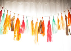 pretty unique party tassels by paper fox LA | styled by the love designed life